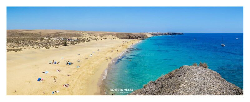 "Panorámica ""Playa Mujeres"" Lanzarote"