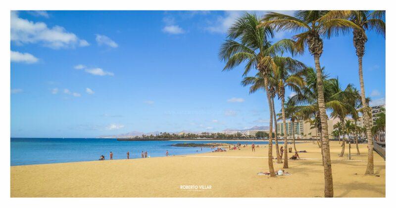 """Panorámica """"Playa del Reducto"""" Arrecife"""